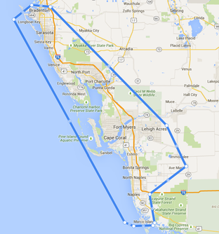 Map of south west florida